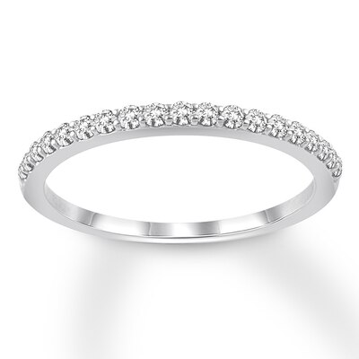 Diamond Wedding Band 1/4 ct tw 14K White Gold