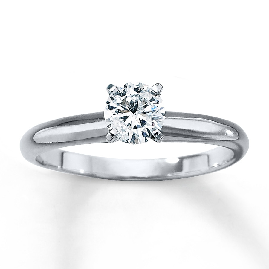4d3f0db03eac Diamond Solitaire Ring 1 2 carat Round-cut 14K White Gold. Tap to expand