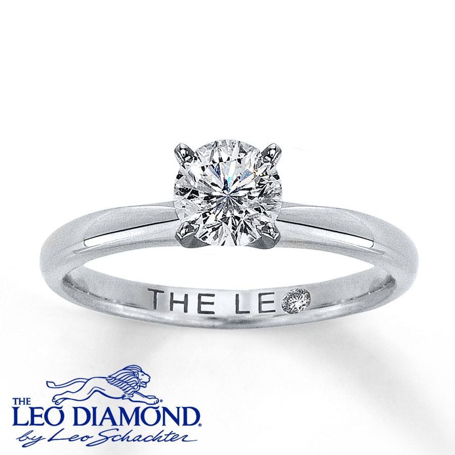 alfred ring engagement jewelers rings leo round wedding solitaire