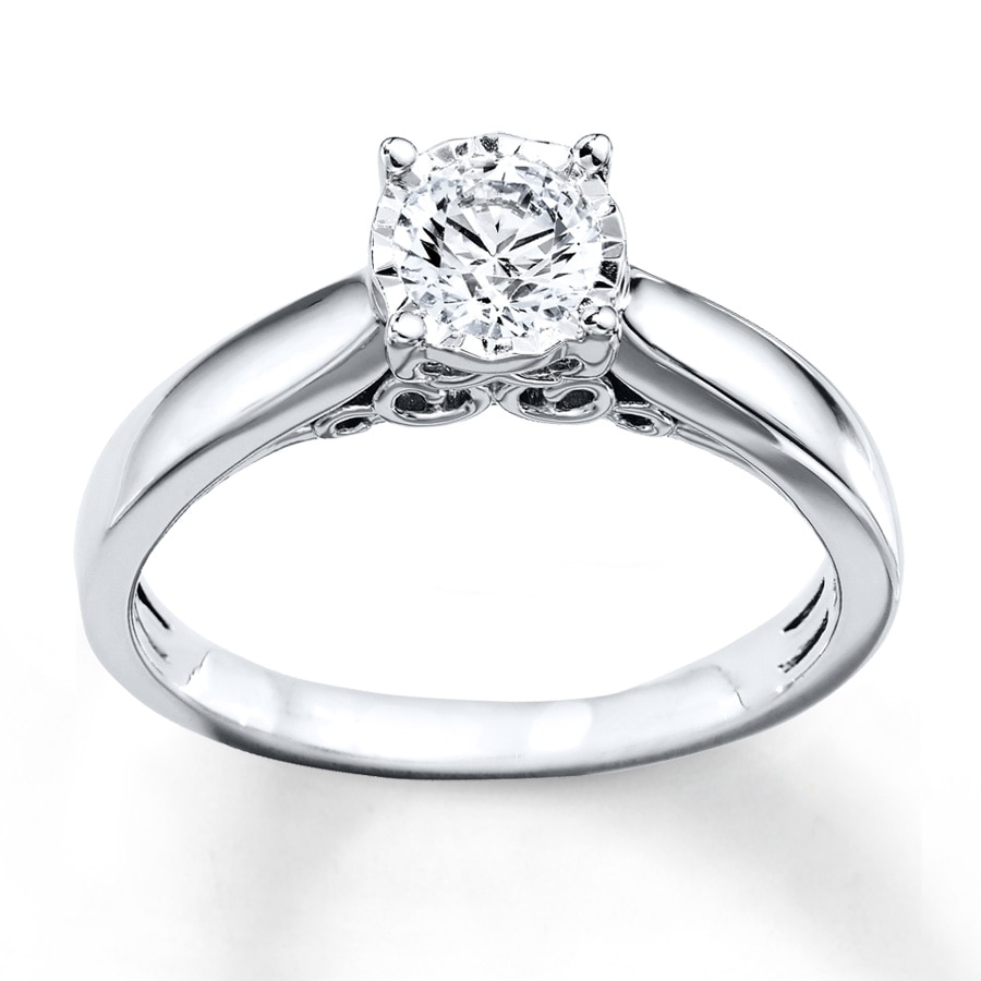 Radiant Reflections Ring 1 2 Carat Diamond 10K White Gold. Tap to expand 4682e68e28f2