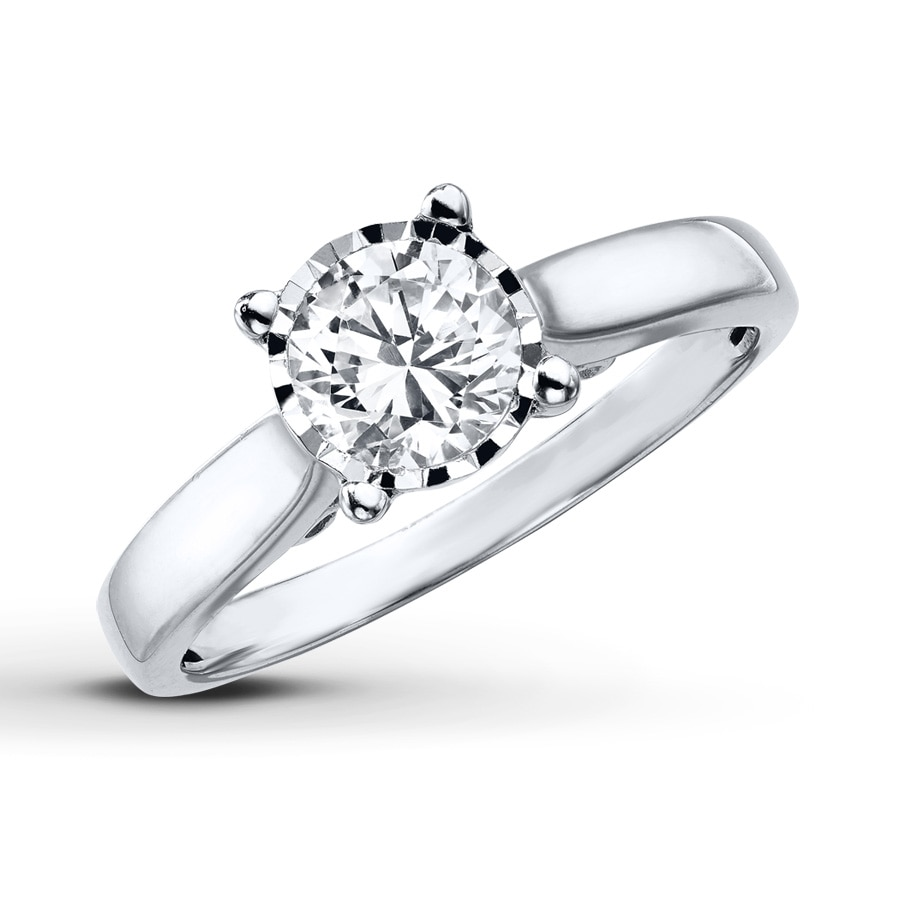 Kay Radiant Reflections Ring 3 4 Carat Diamond 10K White Gold