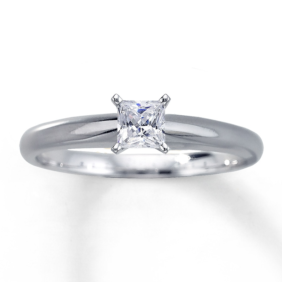 Princess Cut Engagement Rings Princess Cut Diamond Rings 1 2 Carat