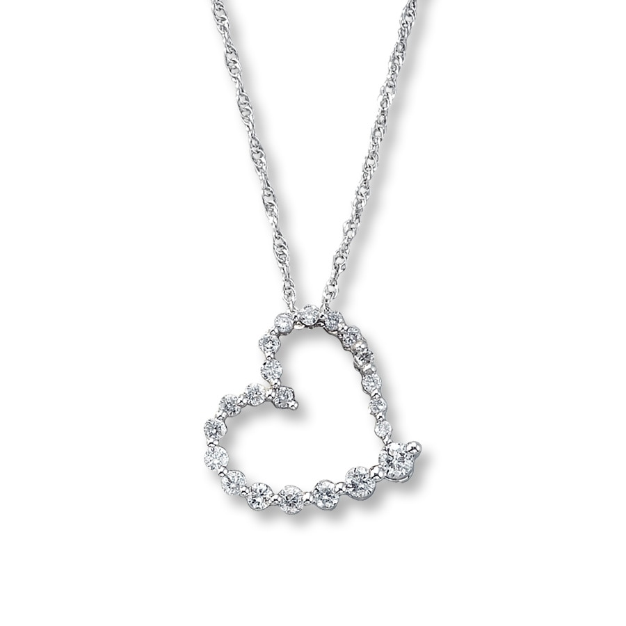 Diamond Heart Necklace For Girlfriend