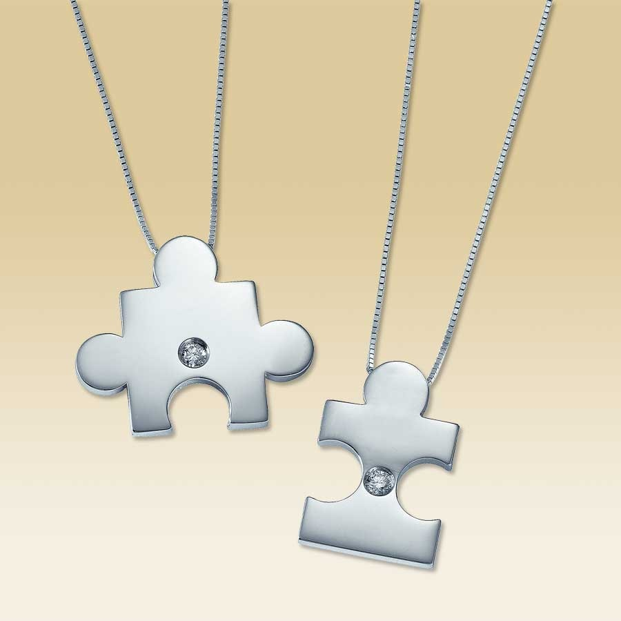 puzzle products necklace and mother piece heart daughters set project