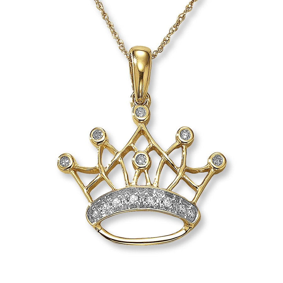 cz rose gold plated pendant necklace az rosegold princess set bling rg jewelry silver pfs crown key