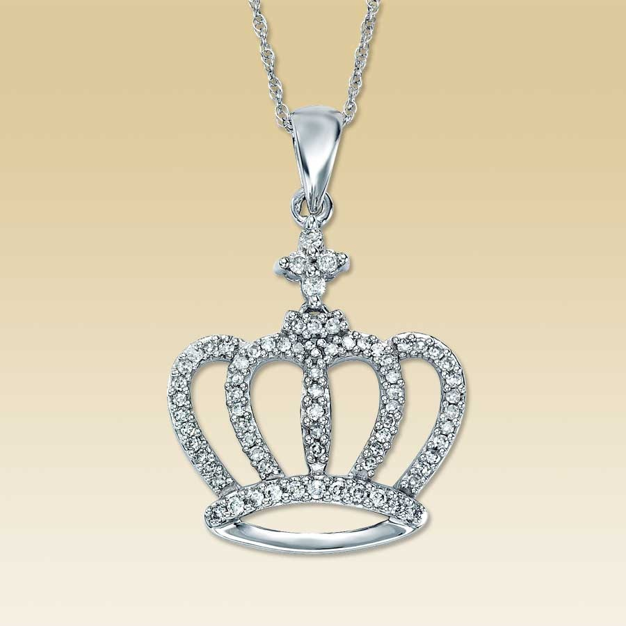 pendant necklace crown gold