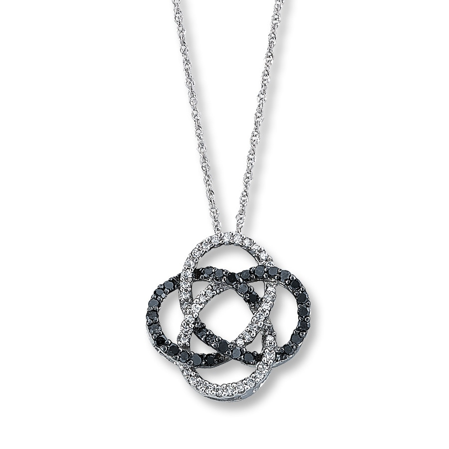 tw off diamond pendant w t aaa black cut solitaire round ct