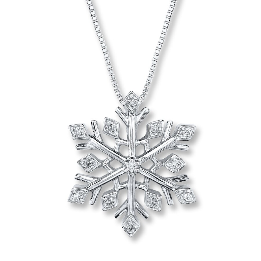 j in chain a product with centre pendant p gemma snowflake sparkling sterling silver necklace