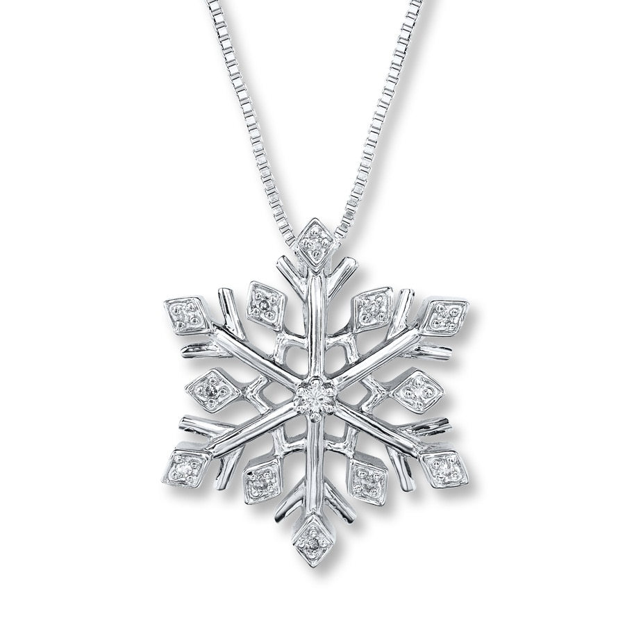 beuniki snowflake necklace products silver