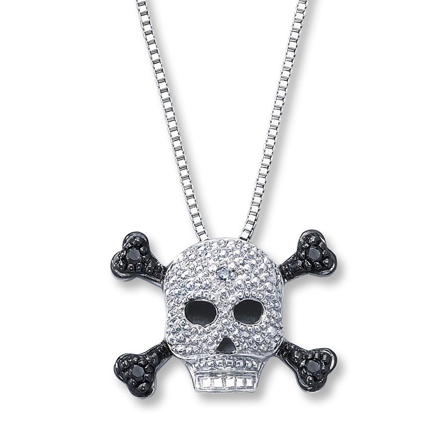 products diamonds pendant main necklaces with and necklace men black tags skull pdp