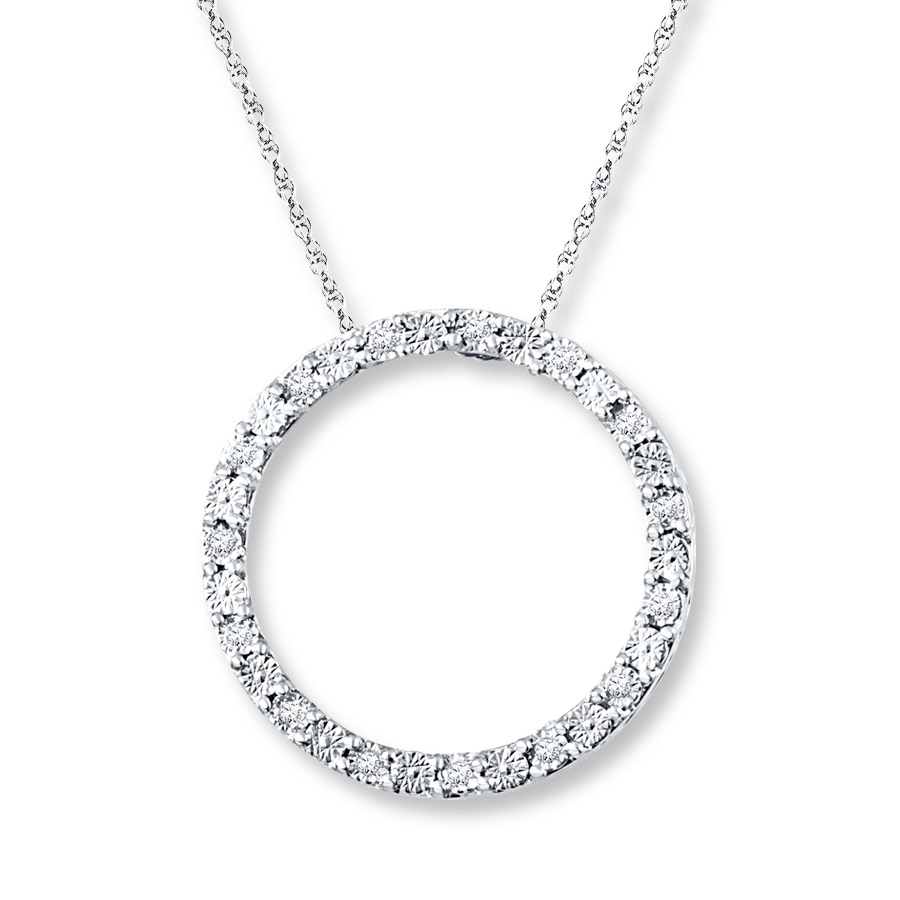 Kay diamond circle necklace 120 ct tw round cut sterling silver hover to zoom aloadofball Images