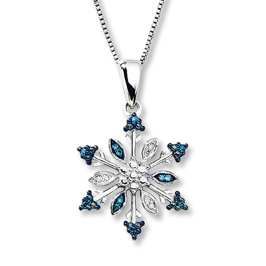 white snowflake and necklace sapphire item created opal pendant