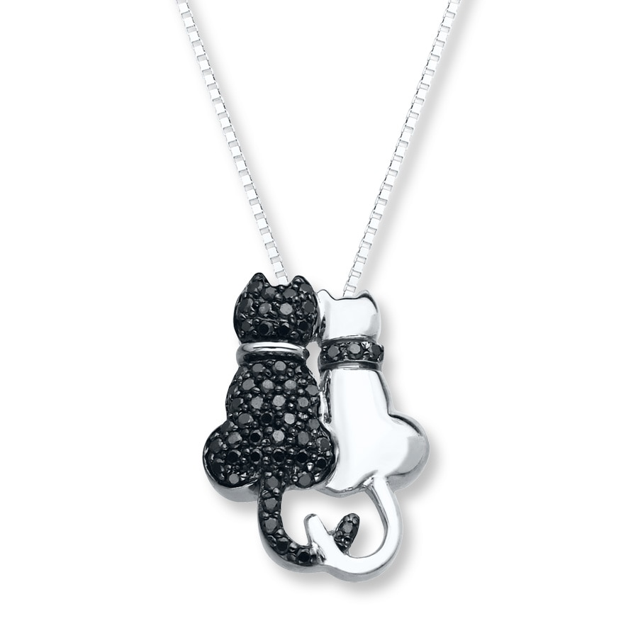 cat moon necklace funny stuff shop jewelry