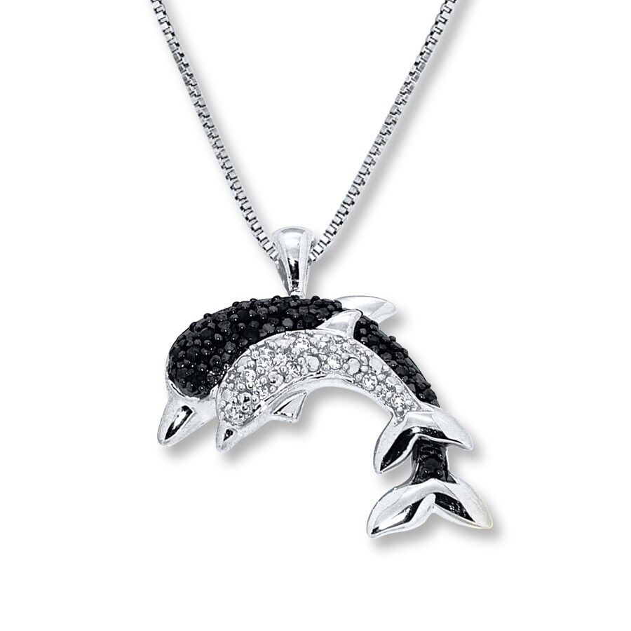 for women silver sterling com chain necklace jewelry box dp pendant amazon dolphin with