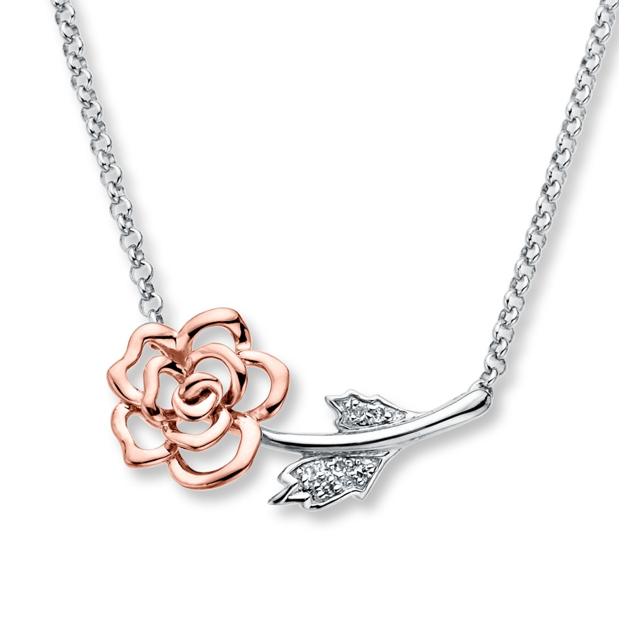 Kay Rose Necklace Diamond Accents Sterling Silver10K Gold