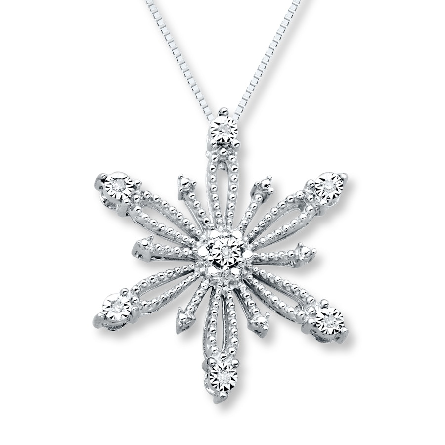 Star Necklace Diamond Accents Sterling Silver 172605608