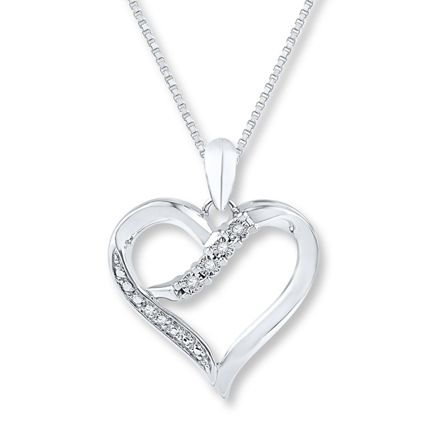 Heart Necklace Diamond Accents Sterling Silver 172930000