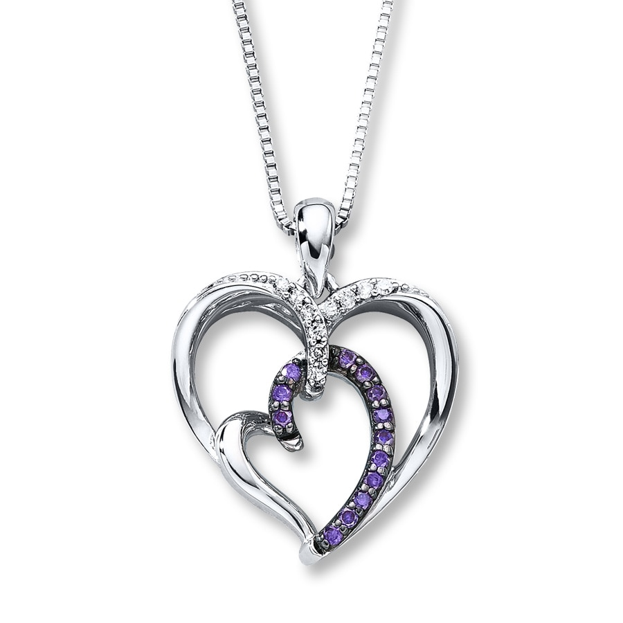 dark products image glow necklace of heart product cellar the purple in