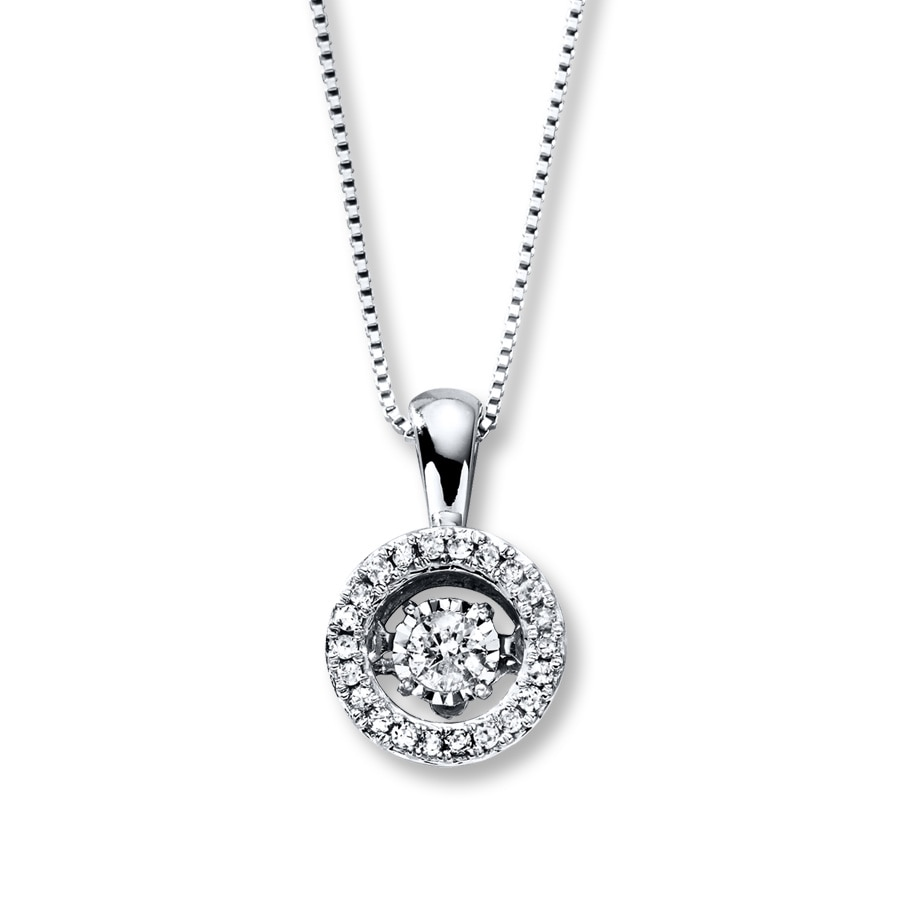 4a128c532 Diamonds in Rhythm 1/5 ct tw Necklace 10K White Gold - 172956601 - Kay