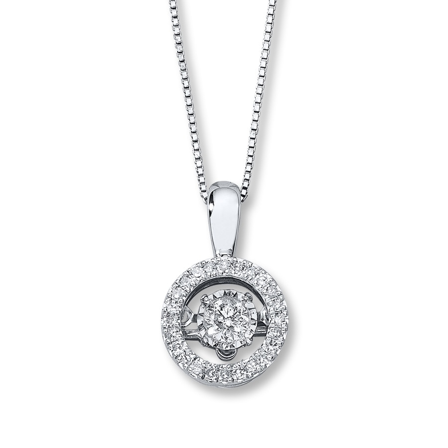Diamonds In Rhythm 1 3 Ct Tw Necklace 10k White Gold