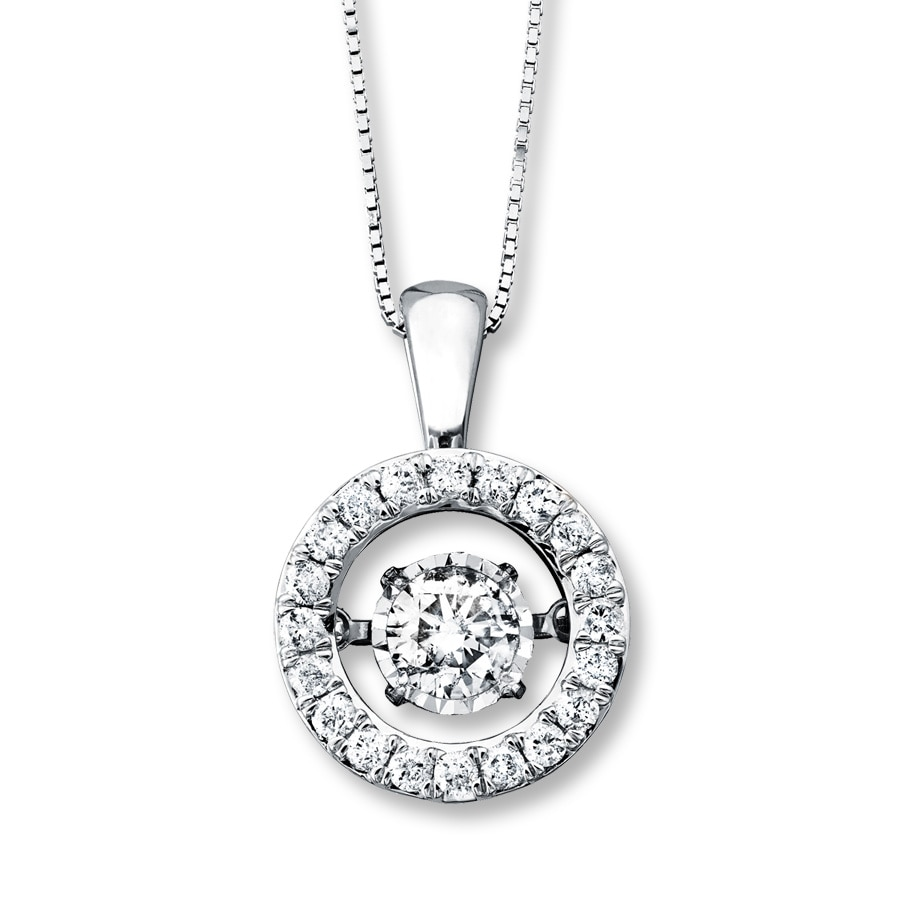 650e63b4e Diamonds in Rhythm 3/4 ct tw Necklace 14K White Gold - 172957007 - Kay