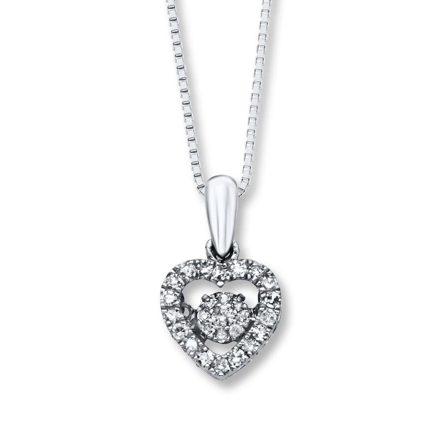 2054bf8a0 Diamonds in Rhythm 1/5 ct tw Necklace Sterling Silver - 172957108 - Kay