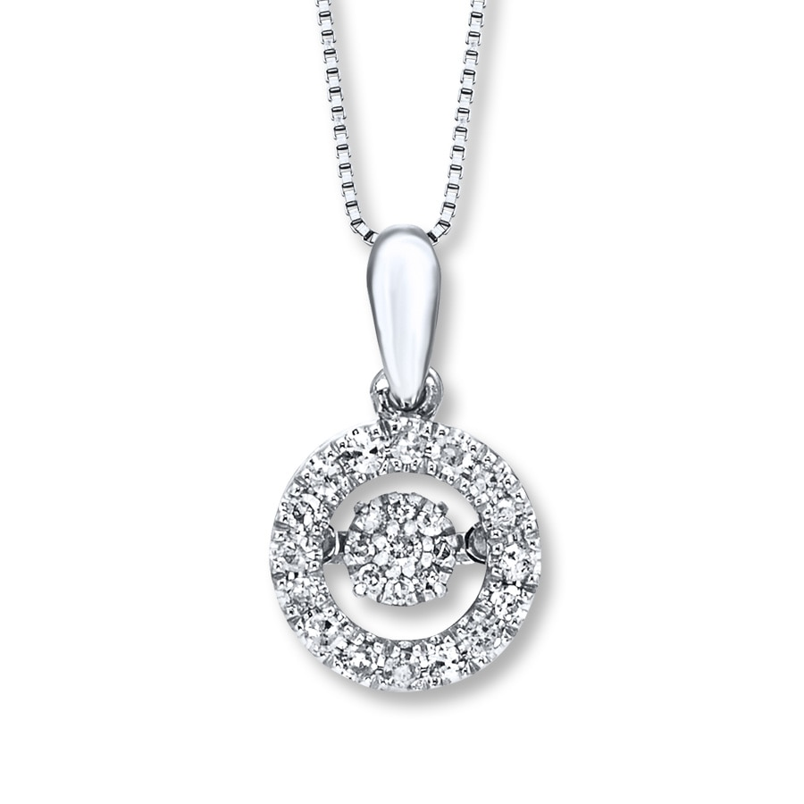 Diamonds In Rhythm Necklace Sterling Silver