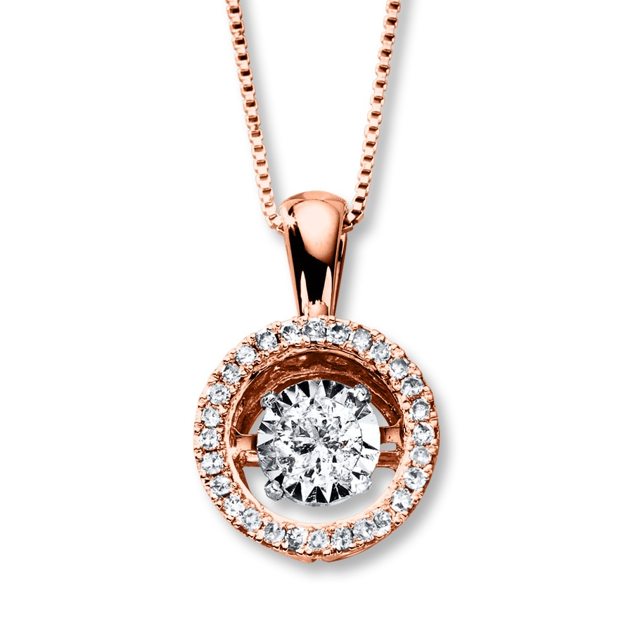 diamonds in rhythm 3 4 ct tw necklace 14k gold