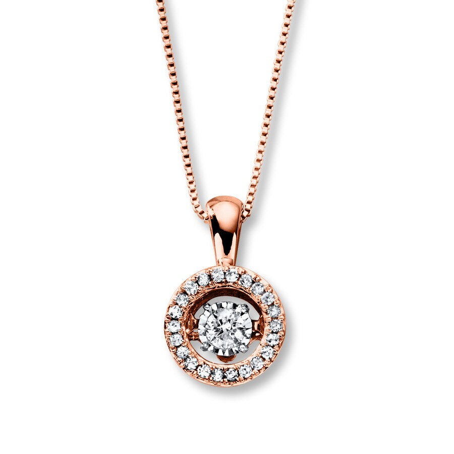Kay Diamonds in Rhythm 1 5 ct tw Necklace 10K Rose Gold