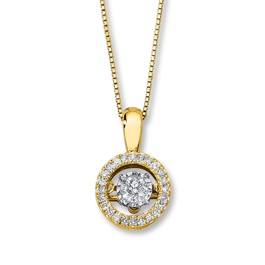 Kay Diamonds In Rhythm 1 3 Ct Tw Necklace 10k Yellow Gold