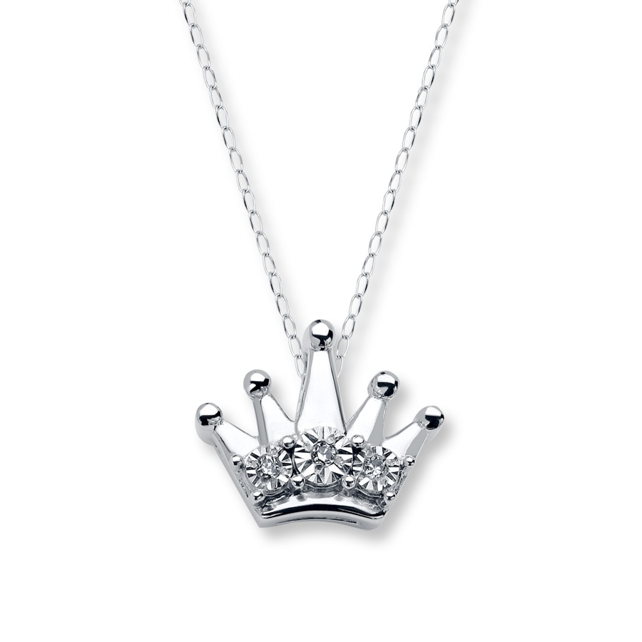 rose chain silver sterling c original necklace diadem crown jewelry products pendant for women plated gold