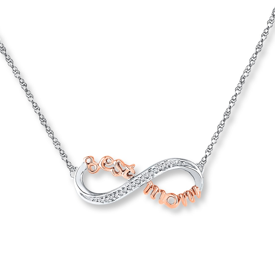 04e467c62 Best Mom Necklace 1/20 ct tw Diamonds Sterling Silver/10K Gold. Tap to  expand