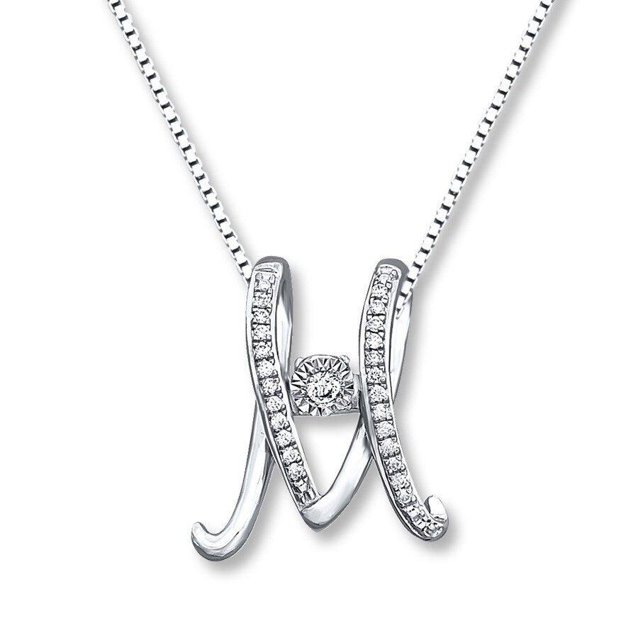 Diamonds In Rhythm 1 15 Ct Tw M Necklace Sterling Silver