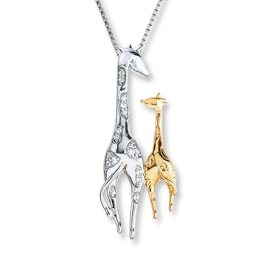 zoom whit sale necklace in diamond yellow giraffe exclusive white e pendant gold brown black and