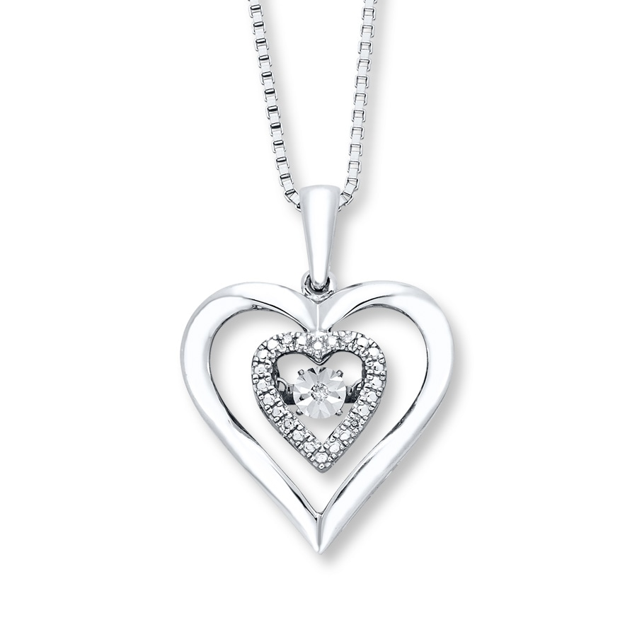 ee0c671c5 Diamonds in Rhythm Heart Necklace Sterling Silver - 173461005 - Kay