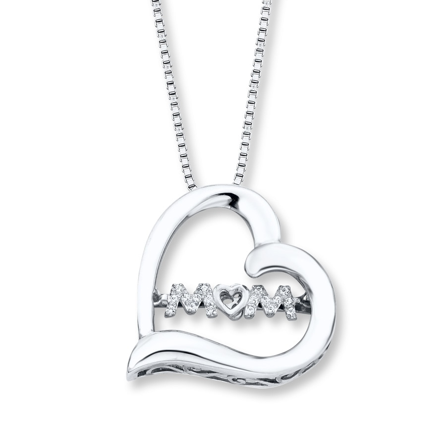 a386bd8d6 Diamonds in Rhythm Mom Necklace 1/20 ct tw Sterling Silver. Tap to expand