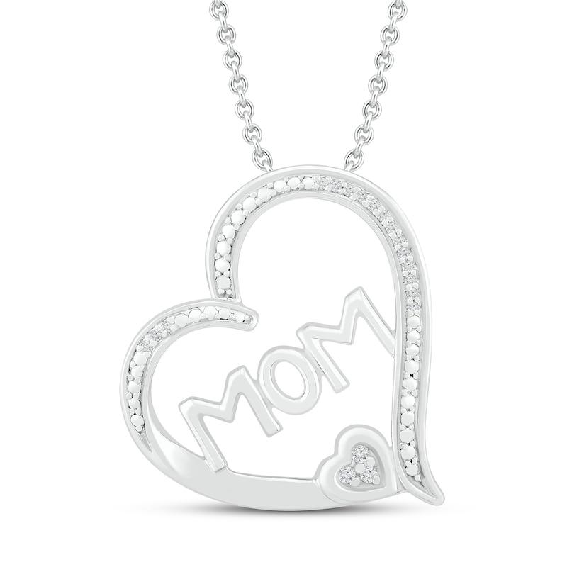 Sterling Silver Womens Round Diamond Love Heart Pendant 120 Cttw