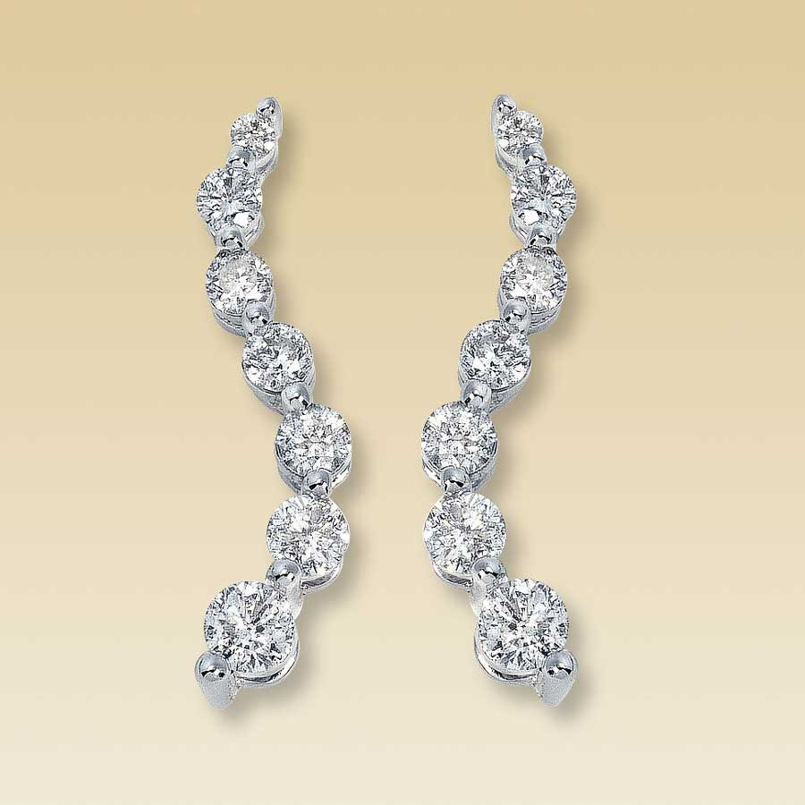 1 2 Carat T W Journey Diamond Earrings