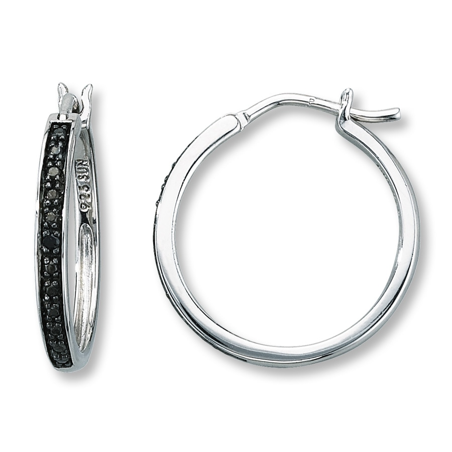 london halo uk earrings clarke rose diamond black solid gold astley hoop mini