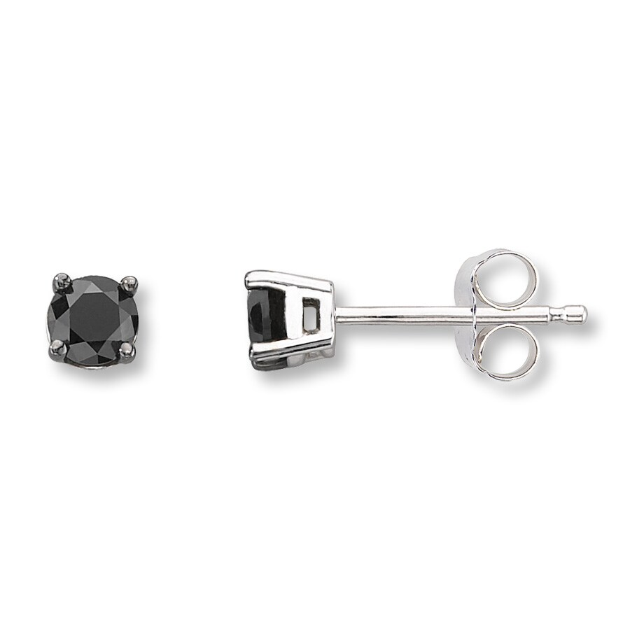 collections nichol products diamond earrings wendy single black stud