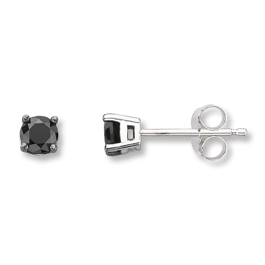 earrings co diamond black stud uk house en jewells