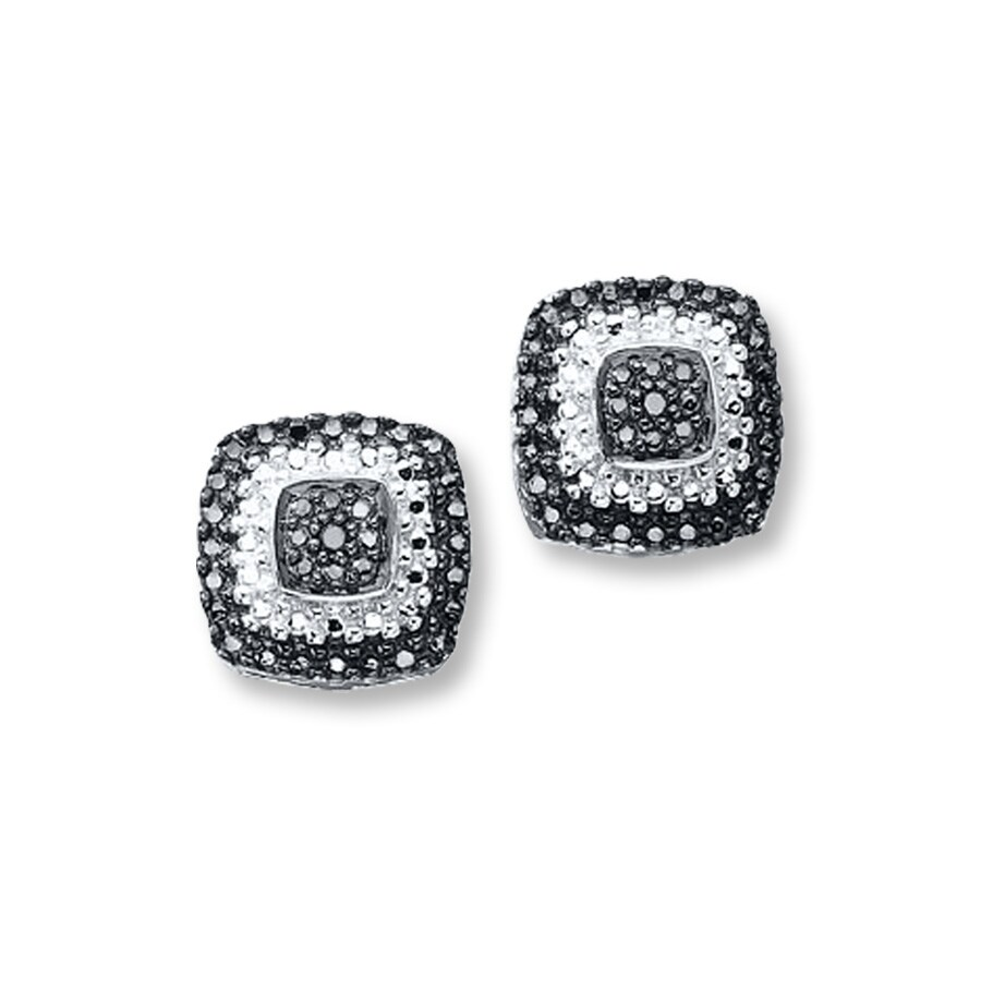 Kay  Black Diamond Earrings Sterling Silver