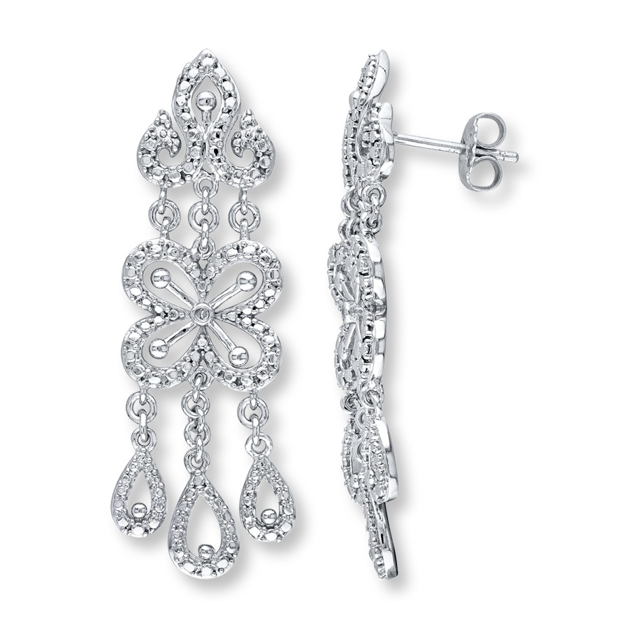 Chandelier Earrings Diamond Accents Sterling Silver Tap To Expand