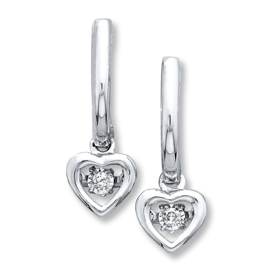 Diamonds In Rhythm 1 20 Ct Tw Sterling Silver Earrings