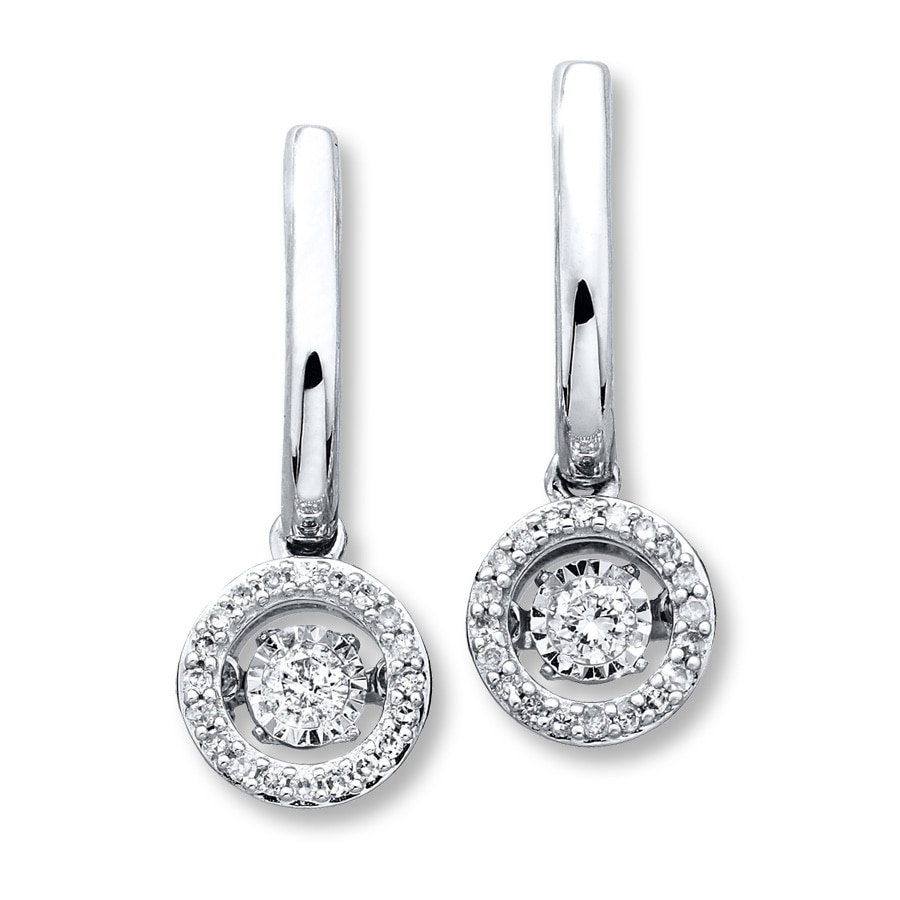 kays earrings diamonds in rhythm 1 3 ct tw earrings 10k white gold 2426