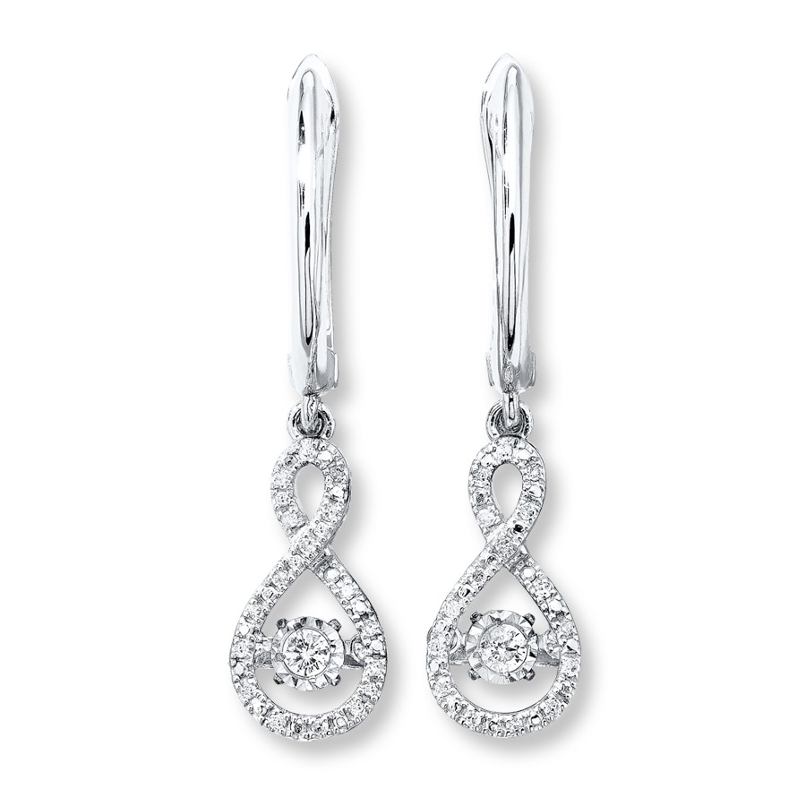 Diamonds In Rhythm 1 5 Ct Tw Earrings 10k White Gold