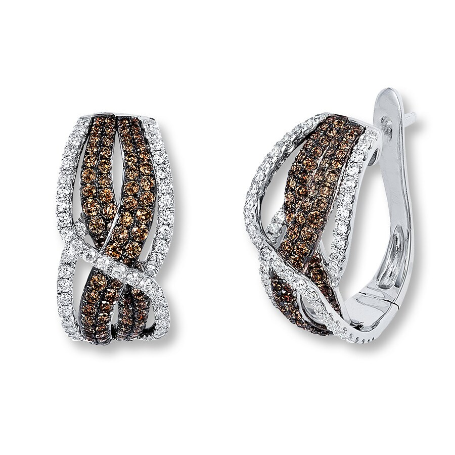 a98225e9b LeVian Chocolate Diamonds 1-3/4 ct tw Earrings 14K Vanilla Gold. Tap to  expand
