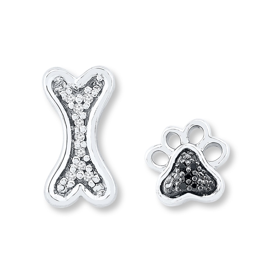 print jewelry girl women cat gift in girls dog cute item from sanlan paw stud animal earring fashion earrings