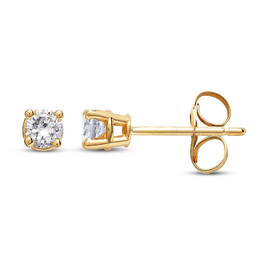 Diamond Earrings 1 4 Ct Tw Round Cut 14k Yellow Gold