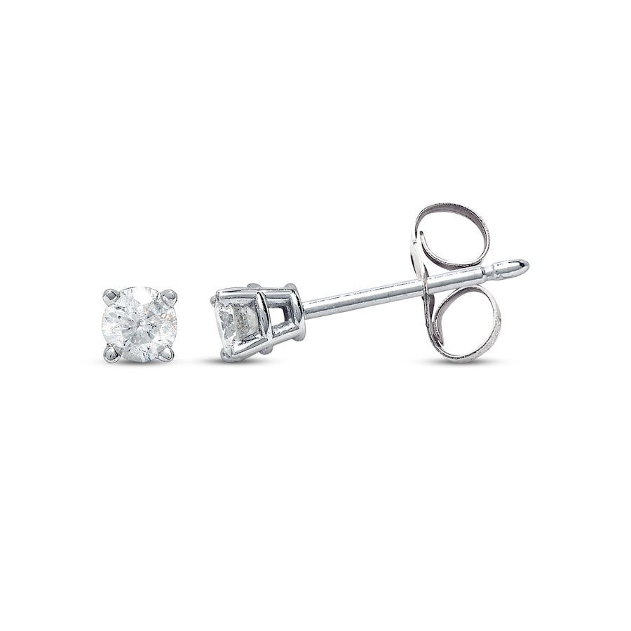 gold prong in h i three stud round earrings vs ctw martini diamond white
